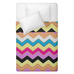 Chevrons Pattern Art Background Duvet Cover Double Side (single Size) by Nexatart