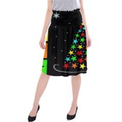 Christmas Time Midi Beach Skirt by Nexatart