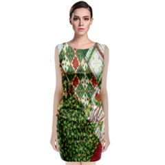 Christmas Quilt Background Classic Sleeveless Midi Dress
