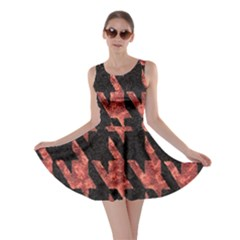 Dogstooth Pattern Closeup Skater Dress