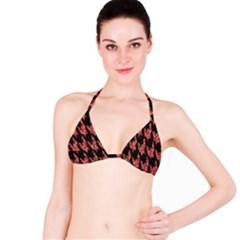 Dogstooth Pattern Closeup Bikini Top