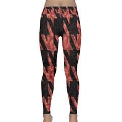 Dogstooth Pattern Closeup Classic Yoga Leggings by Nexatart