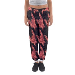 Dogstooth Pattern Closeup Women s Jogger Sweatpants