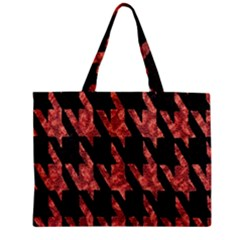 Dogstooth Pattern Closeup Zipper Mini Tote Bag by Nexatart