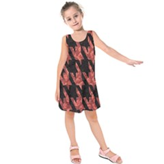Dogstooth Pattern Closeup Kids  Sleeveless Dress by Nexatart