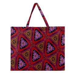Computer Graphics Graphics Ornament Zipper Large Tote Bag by Nexatart