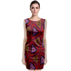 Computer Graphics Graphics Ornament Classic Sleeveless Midi Dress