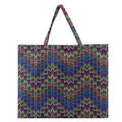 Decorative Ornamental Abstract Zipper Large Tote Bag by Nexatart