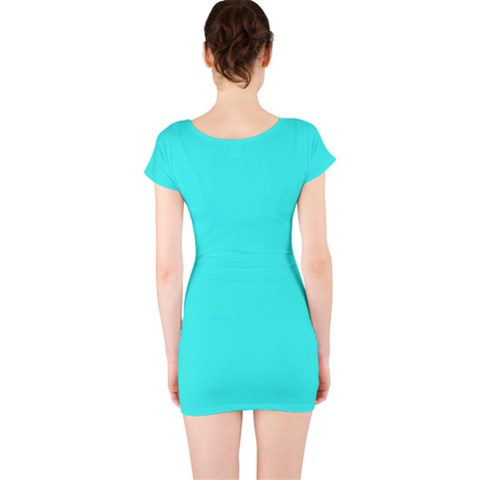 Short Sleeve Bodycon Dress Back