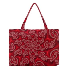 Fractal Art Elegant Red Medium Tote Bag by Nexatart