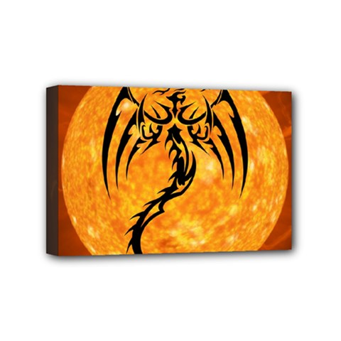 Dragon Fire Monster Creature Mini Canvas 6  X 4  by Nexatart