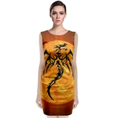 Dragon Fire Monster Creature Classic Sleeveless Midi Dress