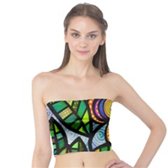 Folk Art Flower Tube Top by Nexatart