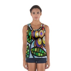 Folk Art Flower Women s Sport Tank Top  by Nexatart