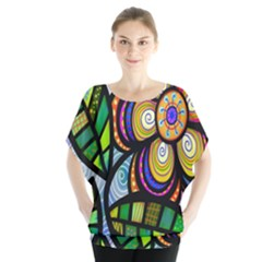 Folk Art Flower Blouse by Nexatart