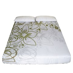 Flowers Background Leaf Leaves Fitted Sheet (california King Size) by Nexatart
