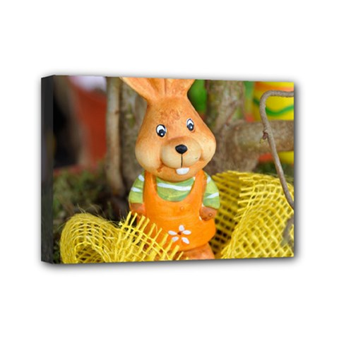 Easter Hare Easter Bunny Mini Canvas 7  X 5  by Nexatart