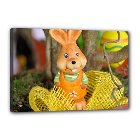 Easter Hare Easter Bunny Canvas 18  X 12