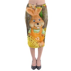 Easter Hare Easter Bunny Midi Pencil Skirt by Nexatart