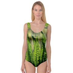Fern Ferns Green Nature Foliage Princess Tank Leotard  by Nexatart