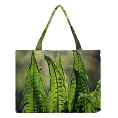 Fern Ferns Green Nature Foliage Medium Tote Bag by Nexatart