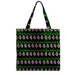 Floral Pattern Zipper Grocery Tote Bag by Nexatart