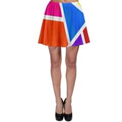 Geometric Blocks Skater Skirt by Nexatart