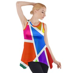 Geometric Blocks Side Drop Tank Tunic by Nexatart