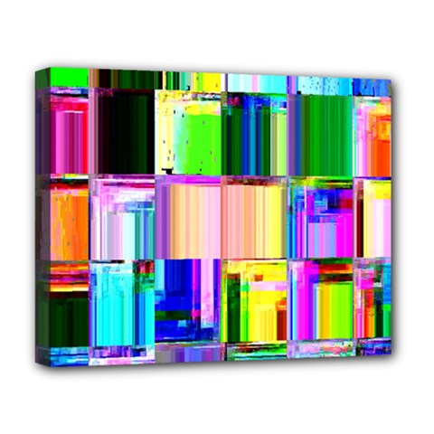 Glitch Art Abstract Deluxe Canvas 20  X 16