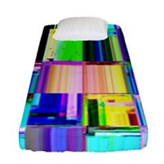 Glitch Art Abstract Fitted Sheet (single Size)
