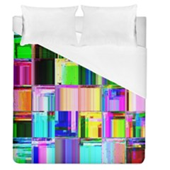 Glitch Art Abstract Duvet Cover (queen Size) by Nexatart