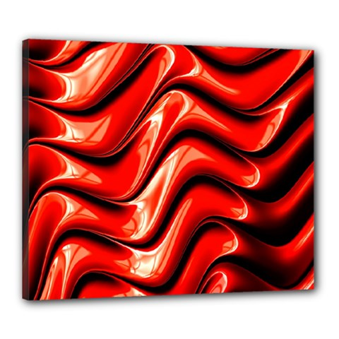 Fractal Mathematics Abstract Canvas 24  X 20  by Nexatart