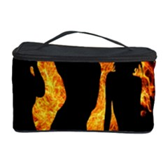 Heart Love Flame Girl Sexy Pose Cosmetic Storage Case