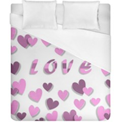 Love Valentine S Day 3d Fabric Duvet Cover (california King Size) by Nexatart