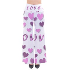 Love Valentine S Day 3d Fabric Pants by Nexatart