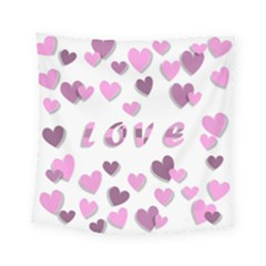 Love Valentine S Day 3d Fabric Square Tapestry (small) by Nexatart