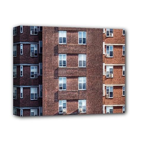 New York Building Windows Manhattan Deluxe Canvas 14  X 11  by Nexatart