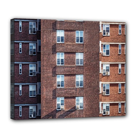 New York Building Windows Manhattan Deluxe Canvas 24  X 20   by Nexatart