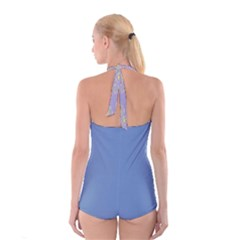 Boyleg Halter Swimsuit