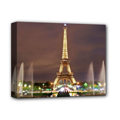 Paris Eiffel Tower Deluxe Canvas 14  X 11