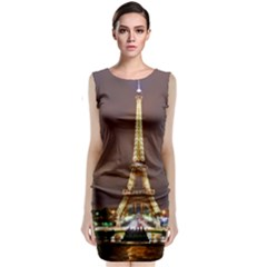Paris Eiffel Tower Classic Sleeveless Midi Dress