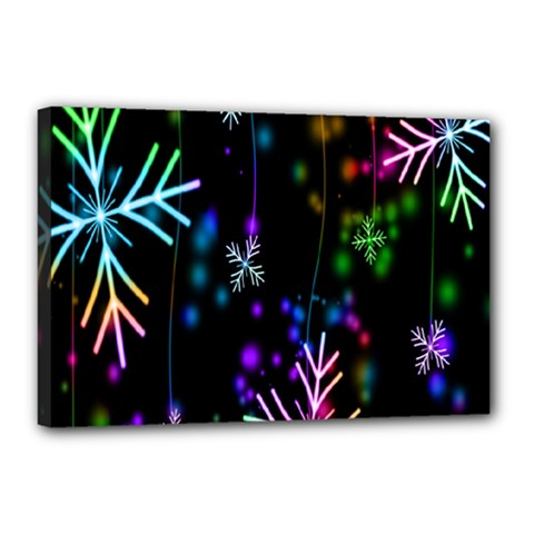 Nowflakes Snow Winter Christmas Canvas 18  X 12  by Nexatart