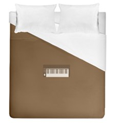 Keyboard Brown Duvet Cover (queen Size) by Jojostore