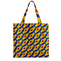 Images Album Heart Frame Star Yellow Blue Red Zipper Grocery Tote Bag by Jojostore
