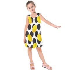 Orange Lime Fruit Yellow Hole Kids  Sleeveless Dress
