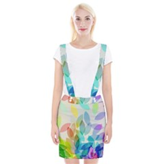 Leaf Rainbow Color Suspender Skirt