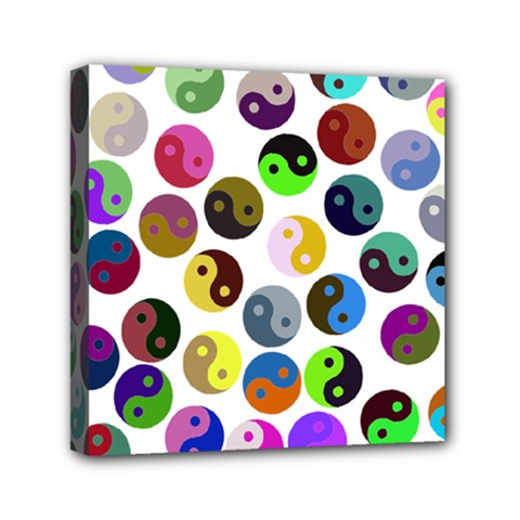 Ying Yang Seamless Color Cina Mini Canvas 6  x 6