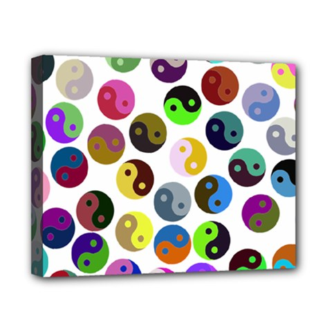 Ying Yang Seamless Color Cina Canvas 10  X 8  by Jojostore