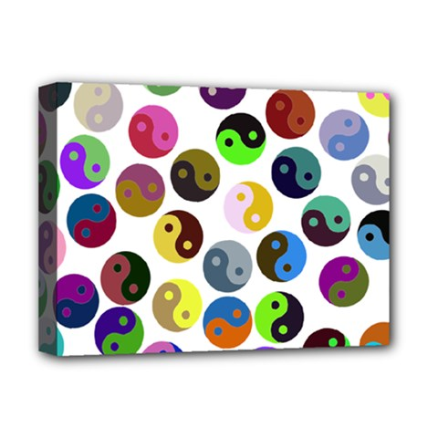 Ying Yang Seamless Color Cina Deluxe Canvas 16  X 12   by Jojostore