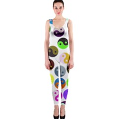 Ying Yang Seamless Color Cina Onepiece Catsuit by Jojostore